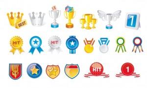 medaglie-e-coppe-badges-and-prizes